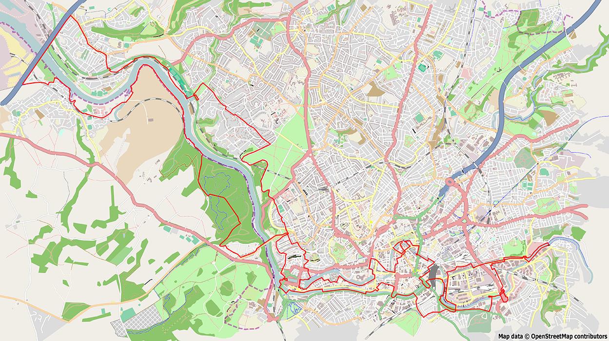 Map of the bridgewalk