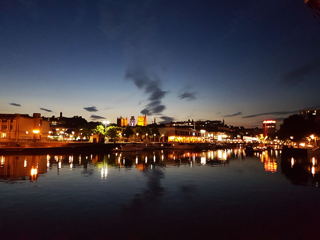 Harbourside at night, Bristol