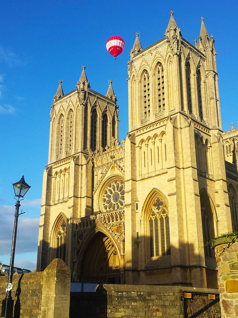 Bristol Cathedral with Balloon