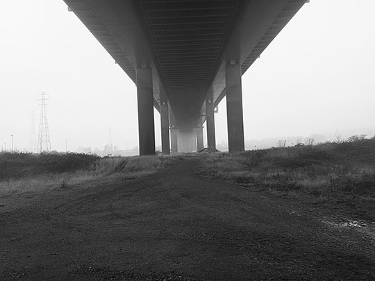 Beneath Avonmouth Bridge